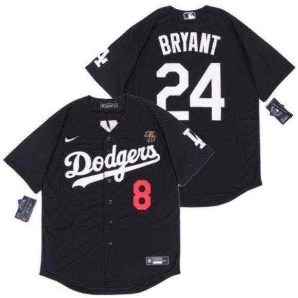 Shirts | La Dodgers 8 24 Kobe Bryant Baseball Jersey Black | Poshmark